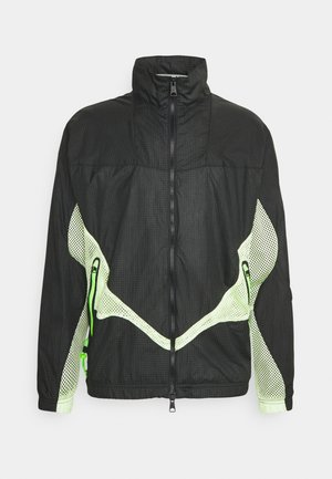 TRACK  - Training jacket - black/light liquid lime/electric green