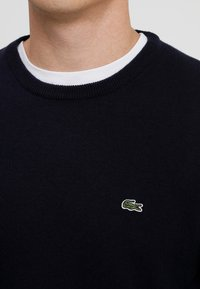 Lacoste - Sweter - navy blue/sinople-flour - 4