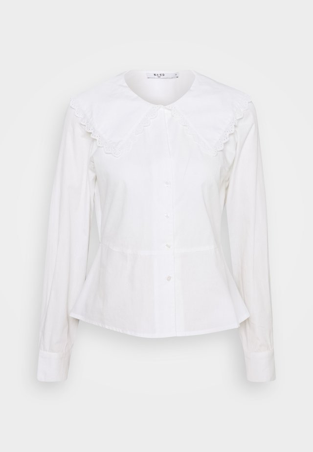 EMBROIDERY COLLAR - Chemisier - off white
