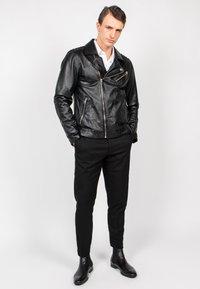 Freaky Nation - BLACK SELECT - Leather jacket - black - 0