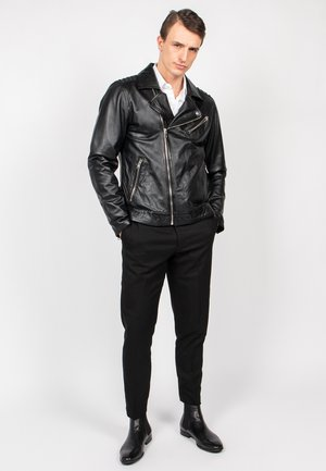 BLACK SELECT - Leather jacket - black
