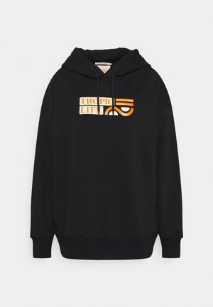 LOOSE FIT HOODIE WITH GRAPHIC  - Sweater - black