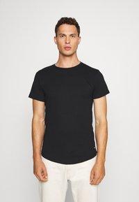 INDICODE JEANS - EAKIN 3 PACK - T-shirt - bas - black - 3