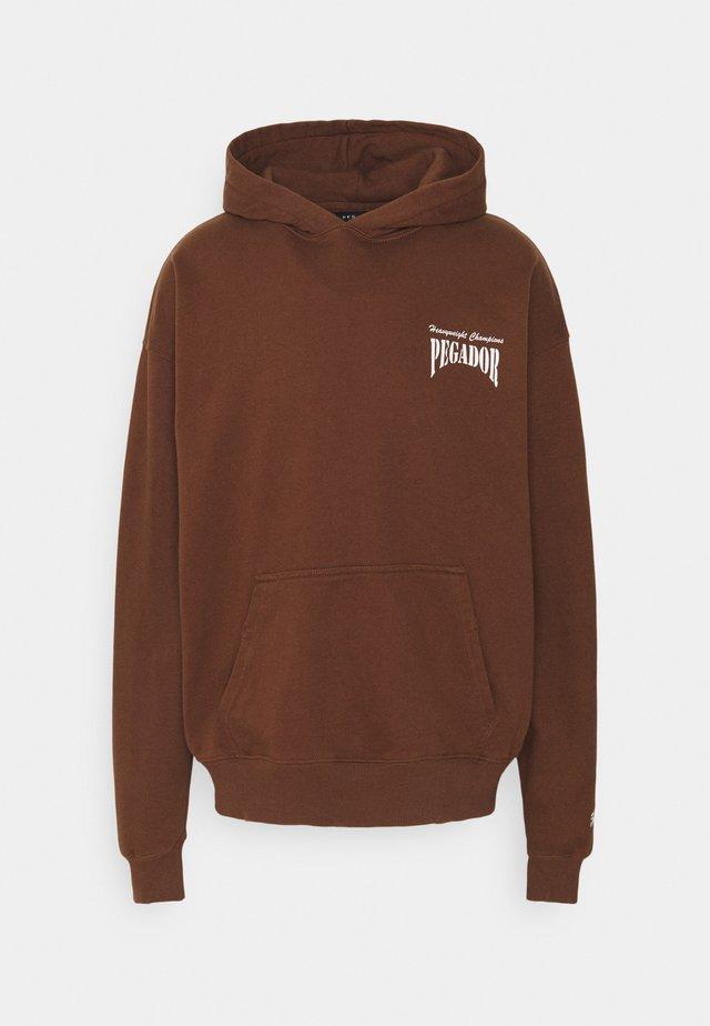EVANDER HOODIE UNISEX - Luvtröja - vintage brown
