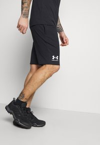Under Armour - RIVAL TERRY SHORT - Sports shorts - black - 3
