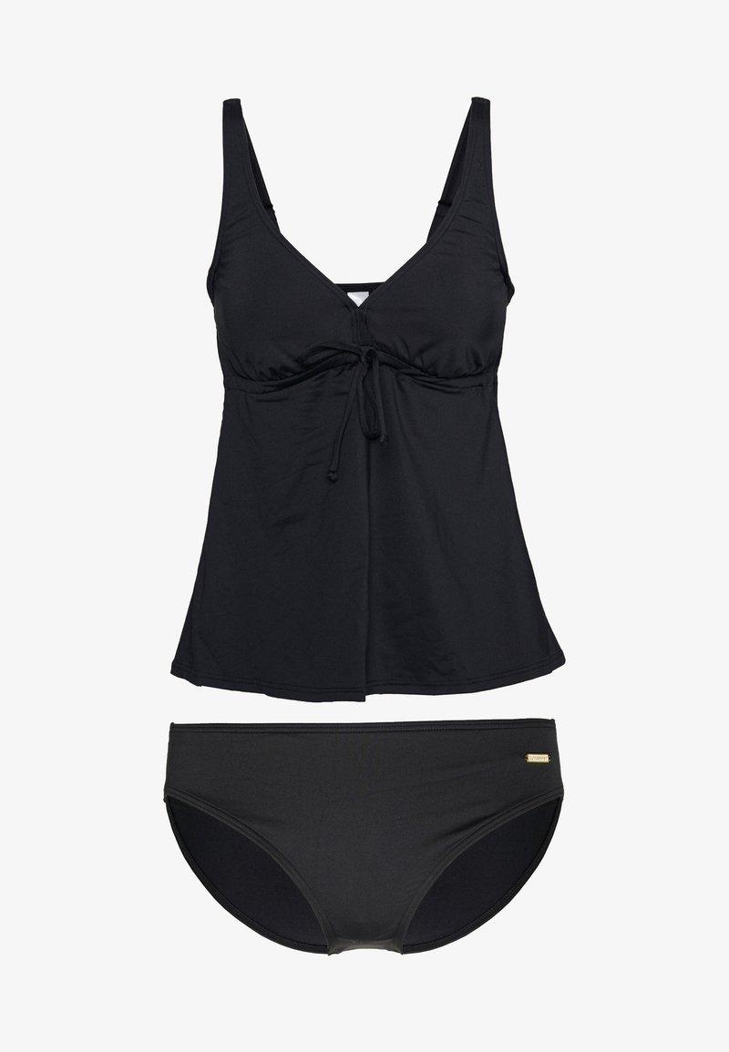 Sunseeker - WIRETANKINI SET - Swimsuit - black solid