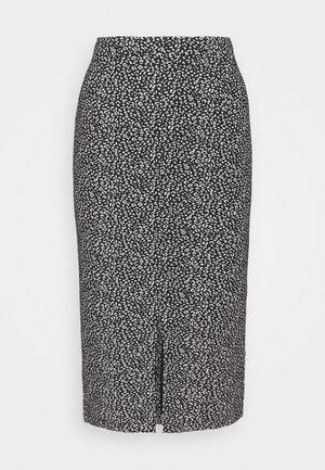 PENCIL - Pencil skirt - black leopard