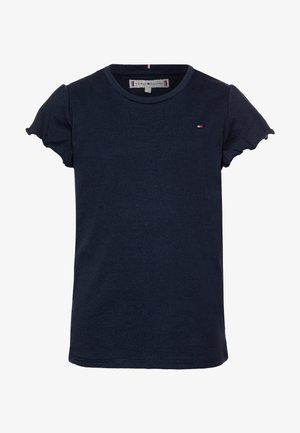 ESSENTIAL RUFFLE SLEEVE - T-shirt imprimé - blue