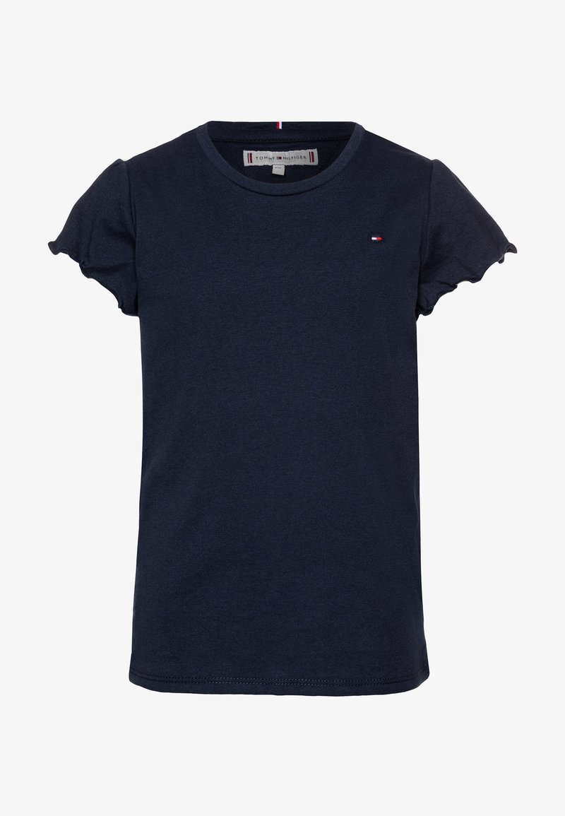Tommy Hilfiger - ESSENTIAL RUFFLE SLEEVE - Print T-shirt - blue