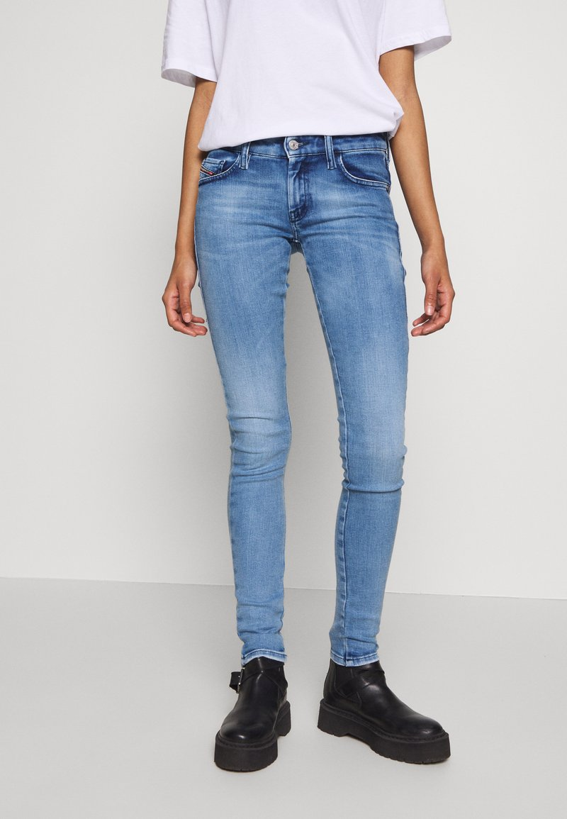 Diesel - SLANDY LOW - Jeans Skinny Fit - blue denim
