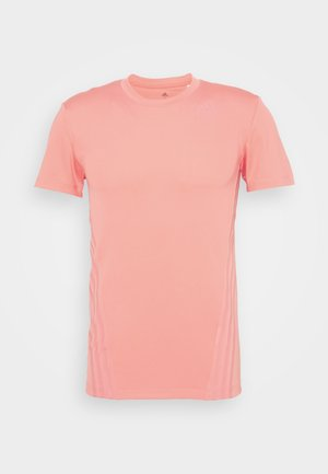 AEROREADY TRAINING SLIM SHORT SLEEVE TEE - Triko s potiskem - coralle