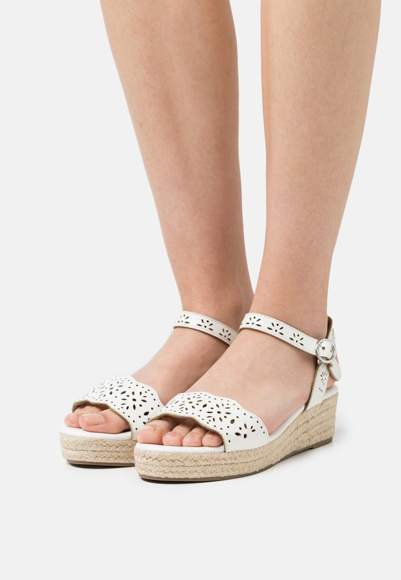 Dorothy Perkins Wide Fit - WIDE FIT REBECCA WEDGE - Espadrillos - white
