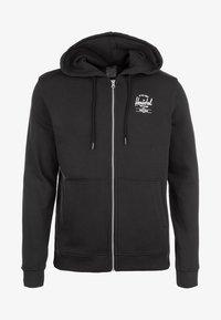 Herschel - Zip-up hoodie - black/white - 0
