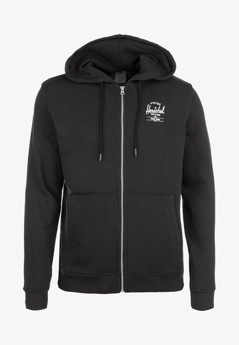 Herschel - Zip-up hoodie - black/white