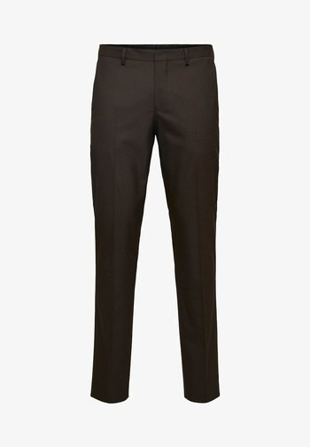 Suit trousers - coffee bean