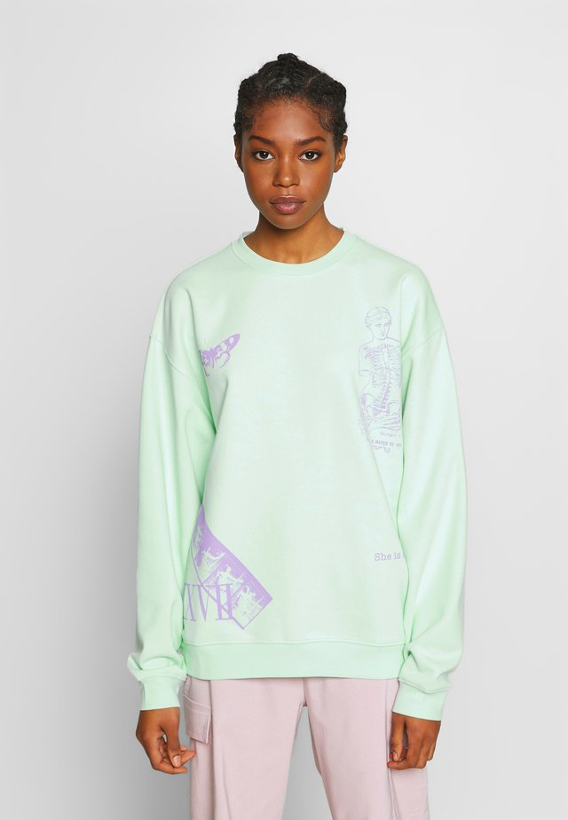 MIXED ART NUMERAL - Bluza - mint