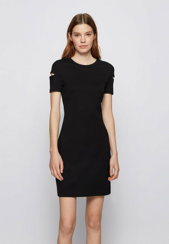 ESYMONA - Shift dress - black