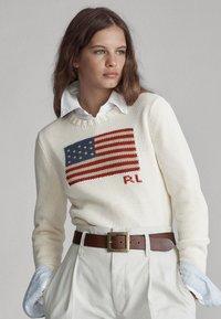 Polo Ralph Lauren - FLAG - Pullover - cream/multi - 0