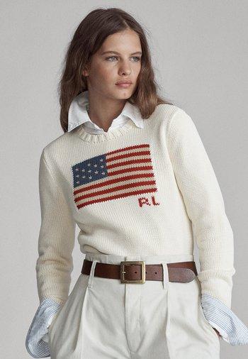 FLAG - Sweter - cream/multi