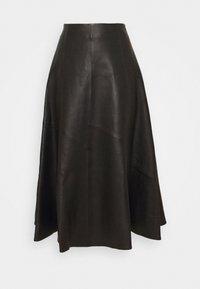 IVY & OAK - SKIRT MIDI - Leather skirt - black - 3
