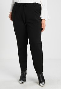 Zizzi - ZMADDISON CROPPED PANT - Tracksuit bottoms - black - 0