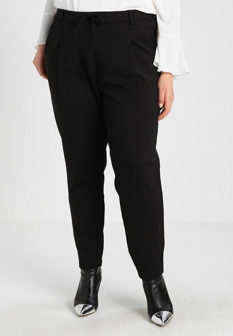 Zizzi - ZMADDISON CROPPED PANT - Verryttelyhousut - black