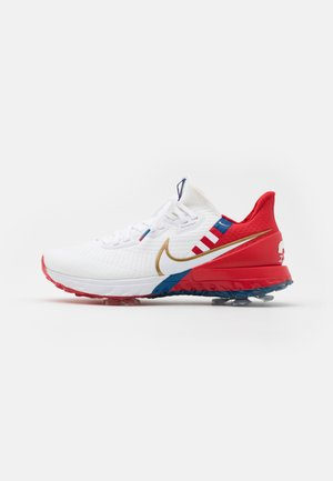 RYDER CUP INFINITY TOUR USA - Chaussures de golf - white/metallic gold/university red/team royal
