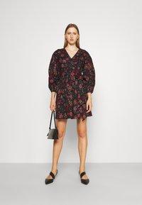 Diane von Furstenberg - BARBE DRESS - Day dress - punk medium black - 1
