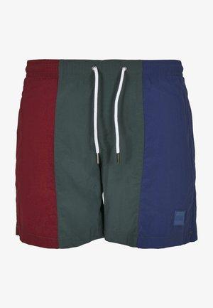 3-TONE - Swimming shorts - burgundy bottlegreen