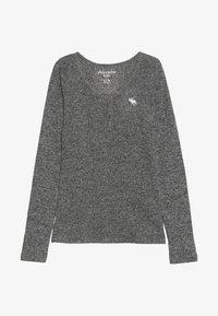 Abercrombie & Fitch - COZY HENLEY - Maglietta a manica lunga - grey - 2