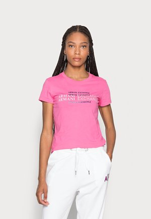 T-shirt med print - pink note