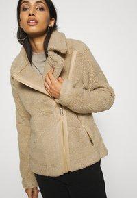 Hollister Co. - BIKER - Winter jacket - tan - 3