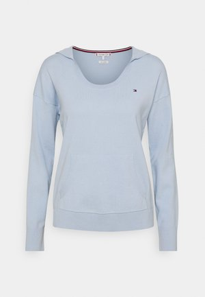 HOODIE OPEN NECK - Jumper - breezy blue