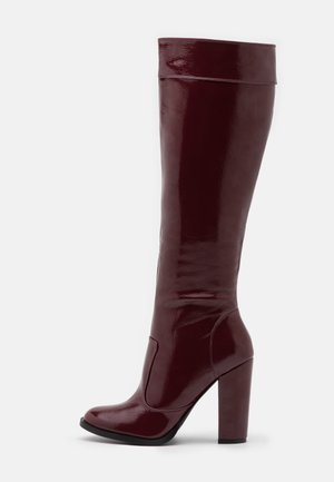 KOLUMN - High heeled boots - burgundy
