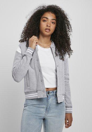 Zip-up hoodie - grey white
