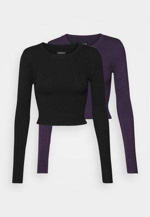 2 PACK - Maglione - black/lilac
