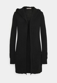 Anna Field - HOODED CARDIGAN - Cardigan - black - 0