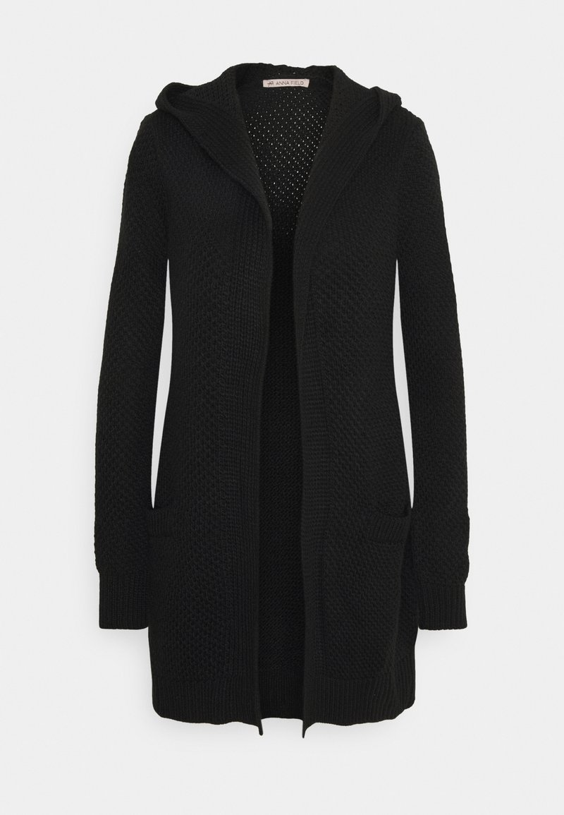 Anna Field - HOODED CARDIGAN - Cardigan - black