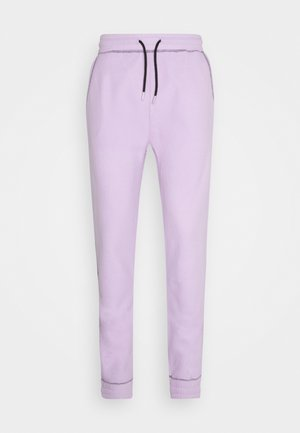 CONTRAST STITCH JOGGER UNISEX - Pantaloni sportivi - lilac