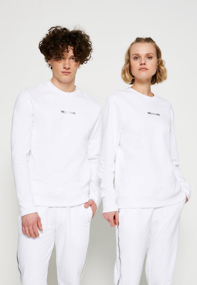 DICAGO METALLIC UNISEX - Sweatshirt - white/silver