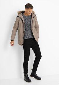 Brave Soul - CHEETAH - Winter jacket - stone - 1