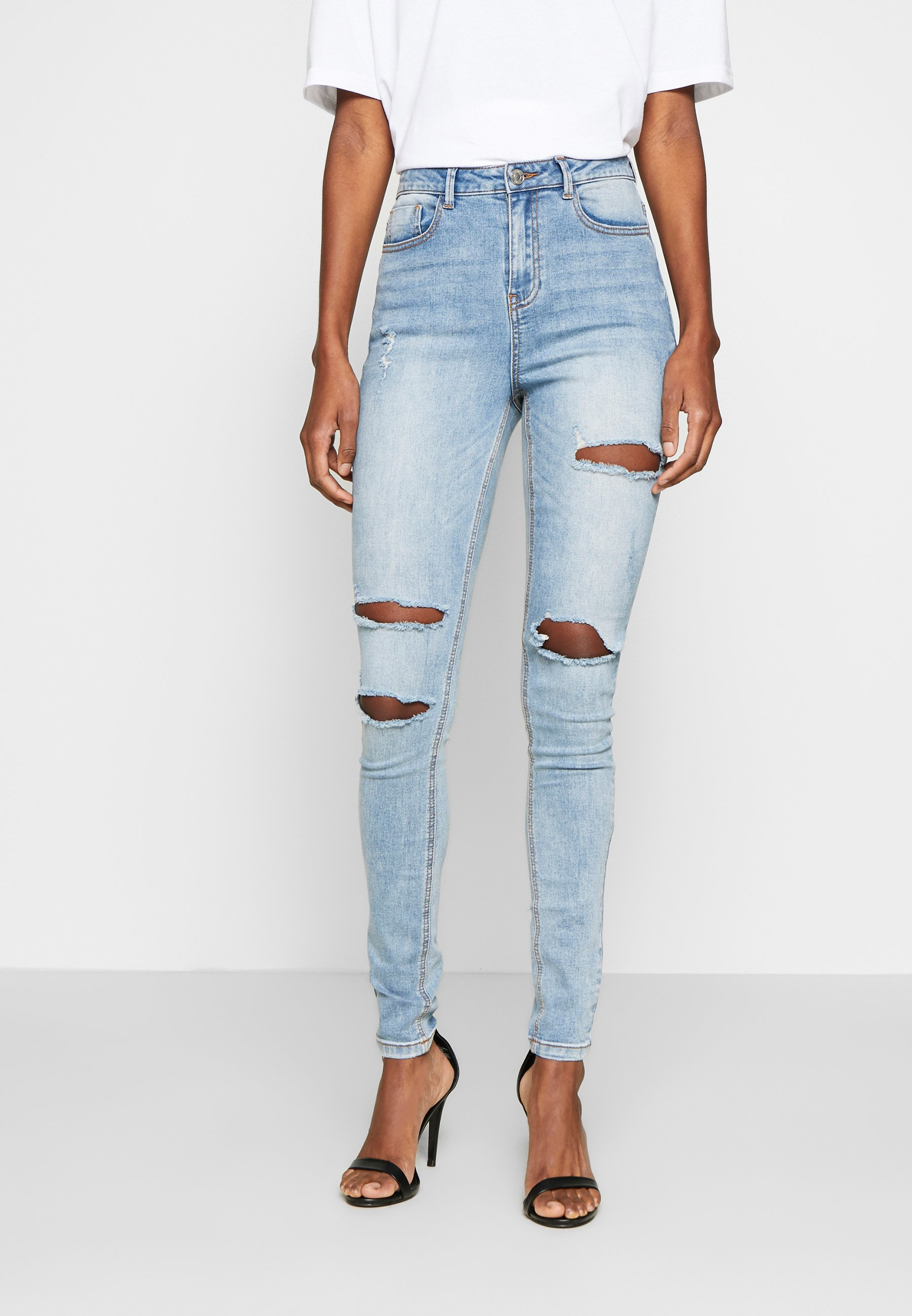 Femme SINNER WAISTED AUTHENTIC RIPPED MID - Jeans Skinny