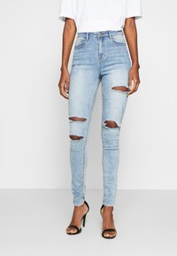 Missguided Tall - SINNER WAISTED AUTHENTIC RIPPED MID - Jeans Skinny Fit - blue - 0