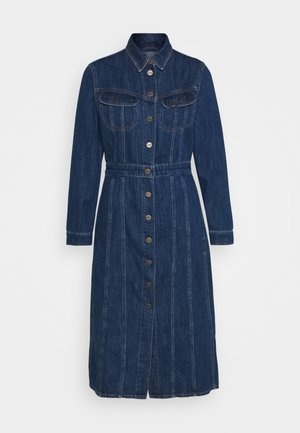 LONGSLEEVE DRESS - Dongerikjole - rinsed denim