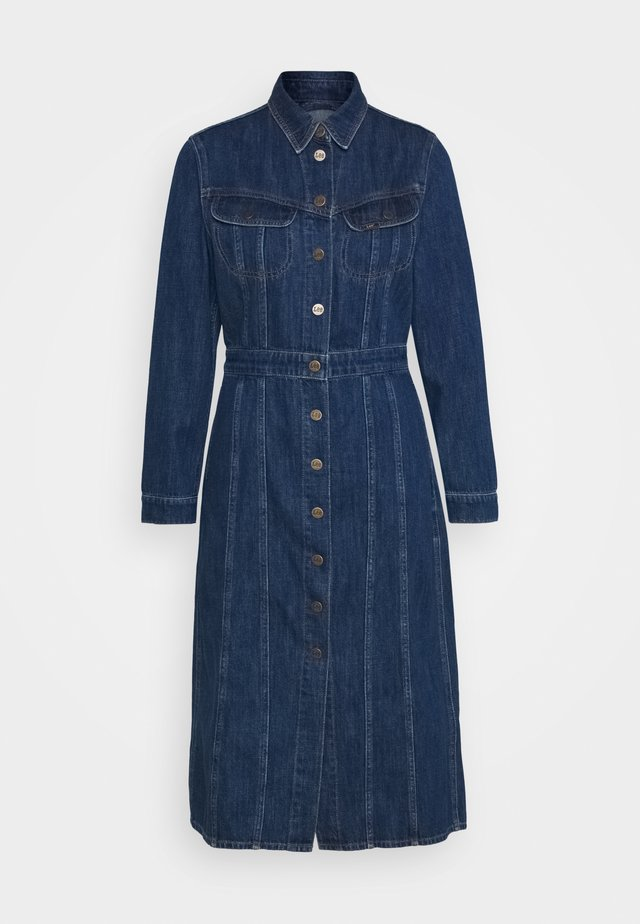 LONGSLEEVE DRESS - Sukienka jeansowa - rinsed denim