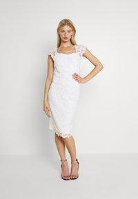 WAL G. - SABRIA MIDI DRESS - Cocktail dress / Party dress - white - 0