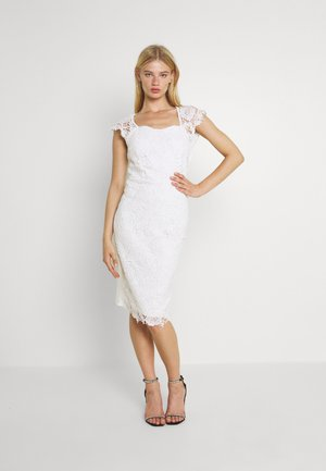 SABRIA MIDI DRESS - Cocktail dress / Party dress - white