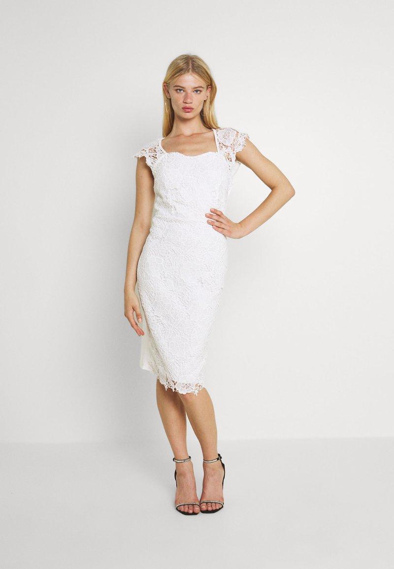 WAL G. - SABRIA MIDI DRESS - Cocktail dress / Party dress - white