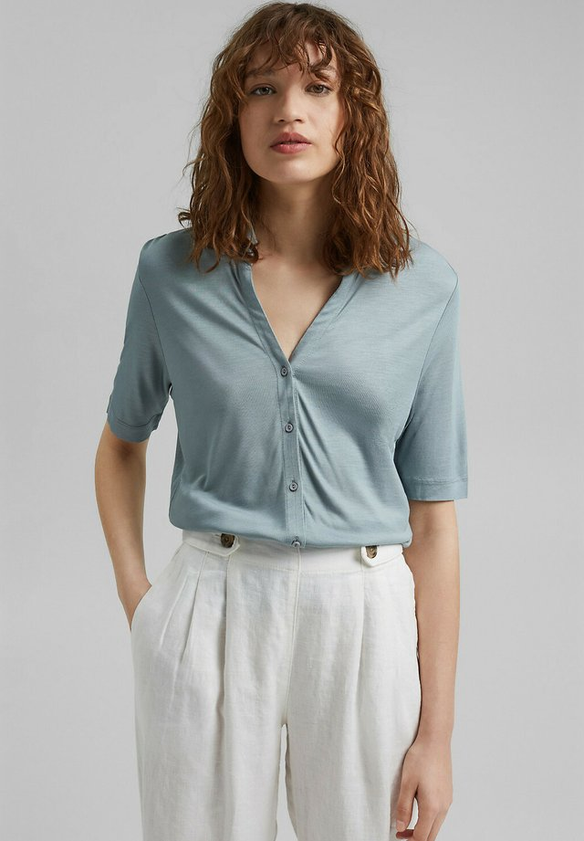 Overhemdblouse - grey blue