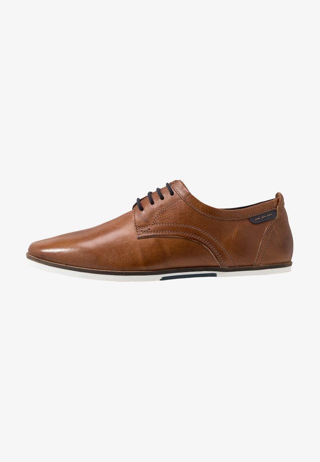 LEATHER - Šněrovací boty - cognac